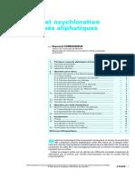 Chloration Et Oxychloration Des Composés Aliphatiques