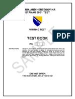 Writing Test Book