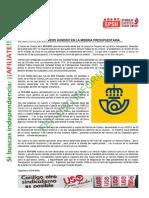 NOTA INFORMATIVA EL SERVICIO DE CORREOS HUNDIDO EN LA MISERIA PRESUPUESTARIA… .pdf