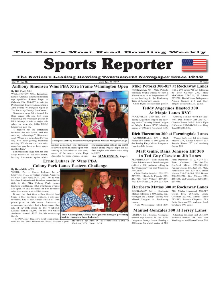June 14 - 20, 2017 Sports Reporter | Individual Sports | Sports