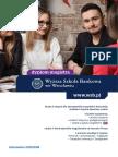 Informator 2017 - Studia II Stopnia - Wyższa Szkoła Bankowa We Wrocławiu