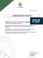 Comunicado Oficial Cristiano Ronaldo