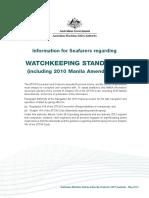 Watchkeeping Standards