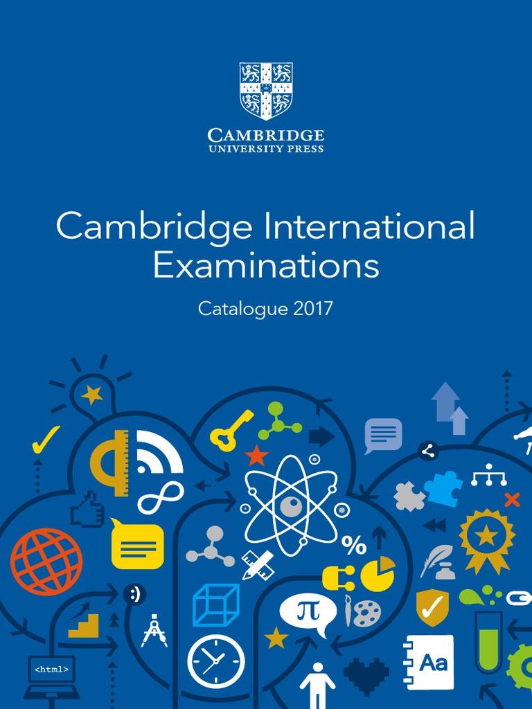 Cambridge International Examinations Catalogue 2017   Teachers ...