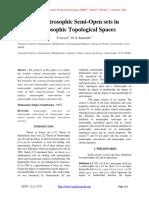 On Neutrosophic Semi-Open sets in Neutrosophic Topological Spaces