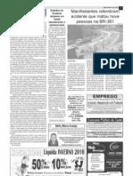 2010.07.30 - Manifestantes relembram acidente que matou nove pessoas na BR-381 - Jornal Opinião