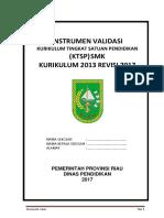 Instrumen Validasi KTSP K13 Tahun 2017