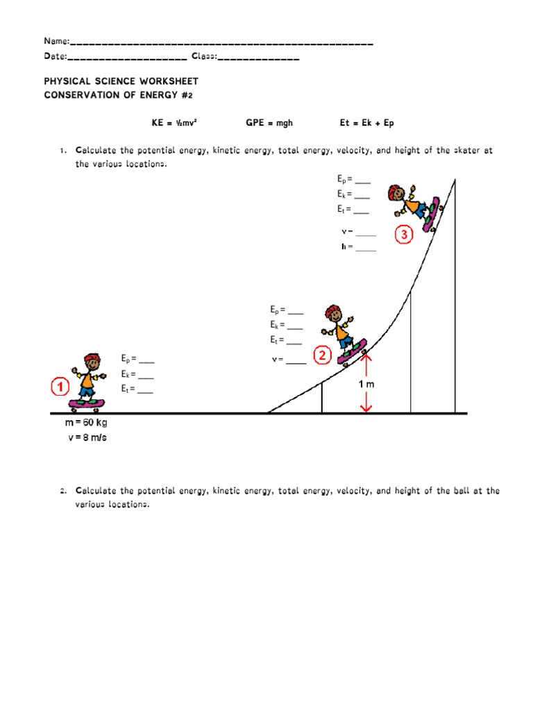 conservation of energy | Kinetic Energy | Potential Energy