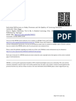 Individual Differences in Study Processes and the