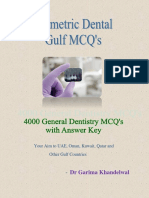 Sample Prometric Dental MCQ Booklet
