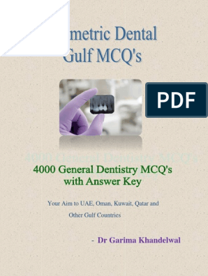 Sample Prometric Dental MCQ Booklet | Dentures | Mouth