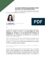 Alberto Royo Las Nuevas Tendenc Progre Niegan El Derecho a La Educac a Desfavorecidos