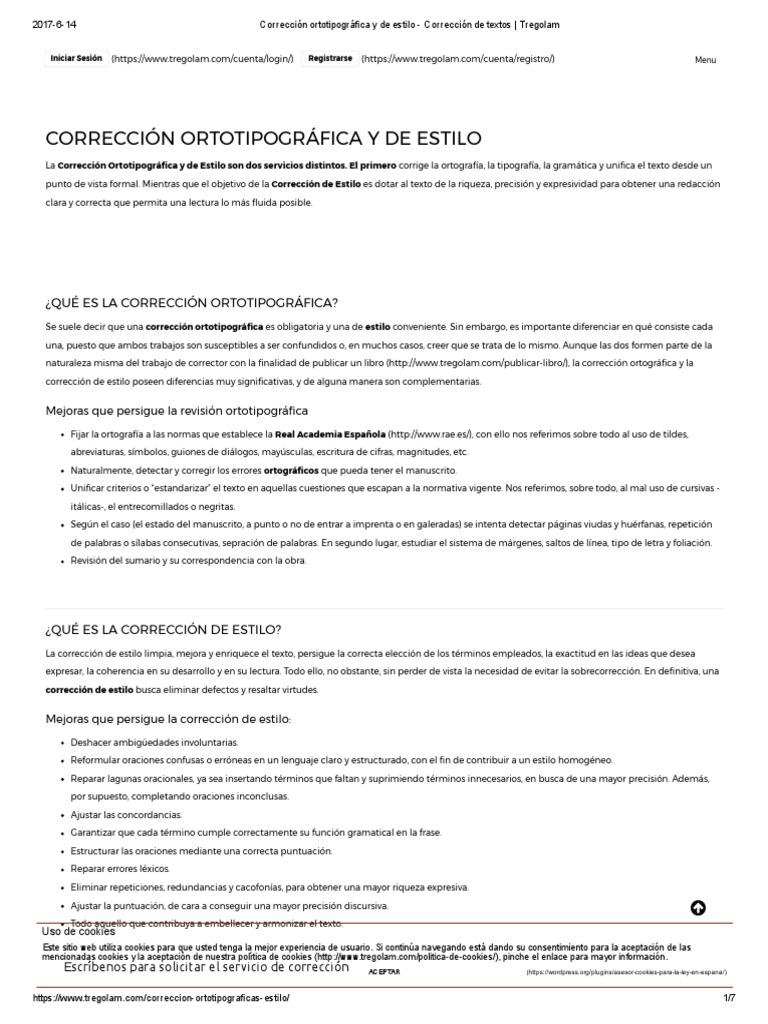 Corrección ortotipográfica y de estilo - Corrección de textos _ ...
