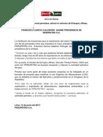 Francisco García Calderón asume presidencia de Perupetro S.A.