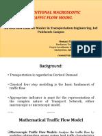 Basic Macroscopic Traffic Flow Model