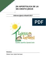 Informe Iglesia Infantil 2017