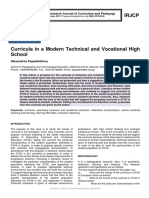 Curricula in a Modern Technical and Vocational High School