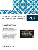 A Study on the Role of MOTIVATION And