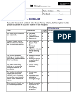 Site Description Checklist
