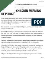 explain to children meaning of pledge