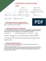 Schema risolutivo integrali