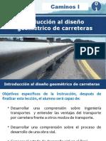Introducción al diseño de carreteras
