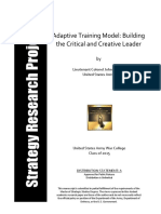 2015 Adaptive Training Model - Building the Critical and Creative Leader