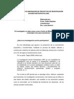 Guía Para La Elaboración de Proyectos de Investigación Acción Participativa