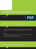 central hearing impairments