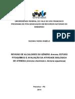 Revisão de Alcaloides Do Gênero Annona, Estudo Tesis