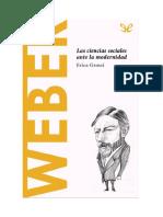 Grossi Erica - Descubrir La Filosofia 48 - Weber - Las Ciencias Sociales Ante La Modernidad