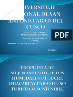 Potencial Turistico Humedales Lucre Huacarpay