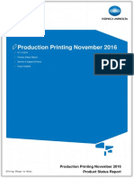 Product Status Report - Production Printing (November 2016)