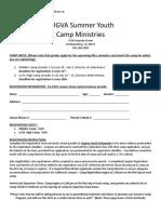 2017 Camp Registration