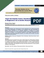 Papel Del Ccp en La Artritis Reumatoide