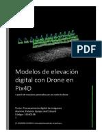 Modelos de Elevacion Digital Con Drone en Pix4D