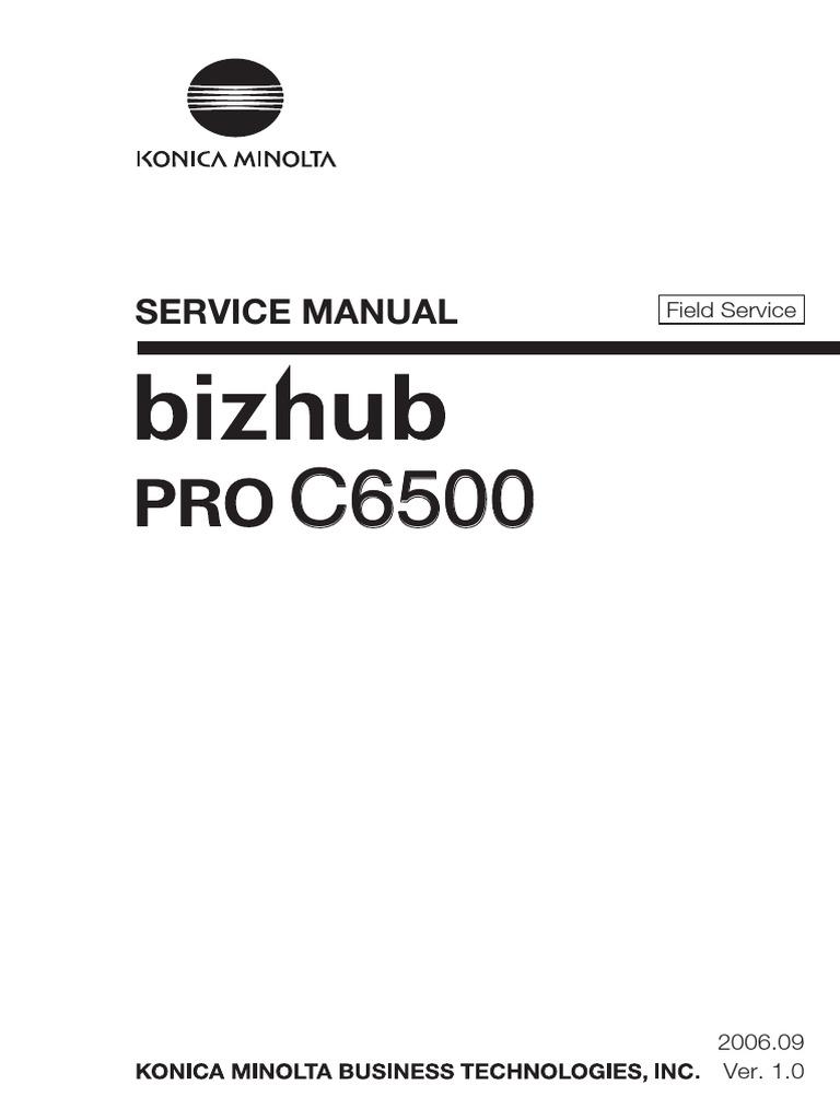 konica minolta bizhub pro c6500 parts and service manual ac power rh es scribd com konica minolta bizhub c6500 manual Konica Minolta Bizhub C450