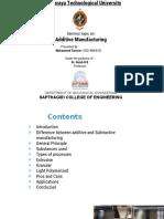 Additive Manufacturing Seminar presentation