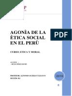 AGONÌA DE LA ÈTICA SOCIAL EN EL PERÙ