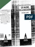 Victoria Camps - Los Valores de La Educación