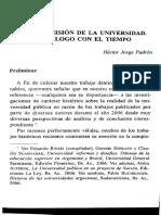 Visión y misión de la universidad, Héctor Padrón