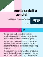 Constructia Sociala a Genului- Nicoleta Pandelea