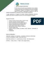 Matriz de Avaliação Matemática Do TRLQ ComItensExemplo