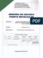 Memoria de Calculo Puerta Metalica p5