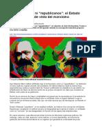 Ni Populistas Ni Republicanos El Estado Desde El Punto de Vista Del Marxismo