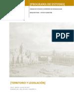 Territorio y Legislación (Sem 8
