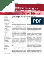 Recomendaciones farmacologicas TDAH