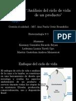 Analisis Del Ciclo de Vida de Un Producto