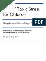 Risk of Toxic Stress for Children