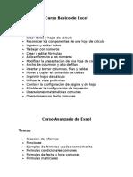 Temario de Excel